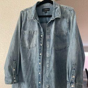 Lucky Brand Denim Boyfriend Shirt Size 2XL